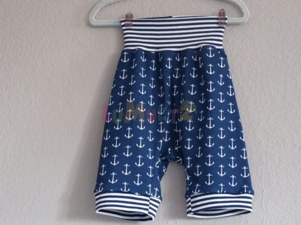 Sommer Shorts Piraten Blau